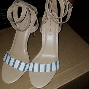 Stiletto sandal ankle wrap up heels Size 10